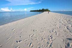 Sandy beach footprints 6 Royalty Free Stock Images
