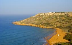 Sandy beach in Gozo Island Stock Photo
