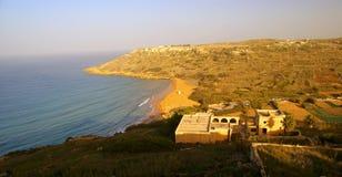 Sandy beach in Gozo Island Stock Photography
