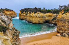 Sandy beach on the Great Ocean Road, Australia Royalty Free Stock Images