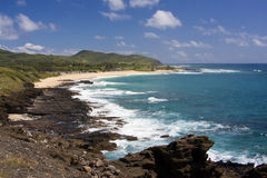 Sandy Beach Hawaii. Over looking Sandy Beach on Oahu Hawaii stock photo