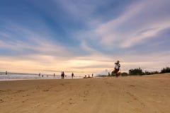 Sandy beach Hawker Stock Image