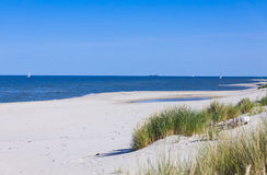 Sandy beach on Hel Peninsula, Baltic sea, Poland Royalty Free Stock Image