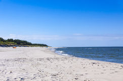 Sandy beach on Hel Peninsula, Baltic sea, Poland Royalty Free Stock Photography