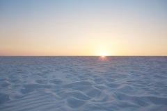 Sandy Beach Horizon (horizontal) Fotos de archivo libres de regalías