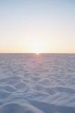 Sandy Beach Horizon (vertical) Foto de archivo libre de regalías