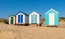 Sandy Beach Huts Stock Foto's