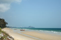 The sandy beach of the Indian ocean Stock Images