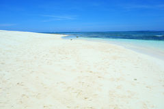 Sandy beach. On the island of Siargao, Philippines stock photography
