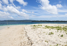 Sandy beach at  Jolly buoy Island, Port Blair Stock Photography