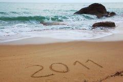 Sandy beach on Koh Samui. Inscription: 2011 Royalty Free Stock Photography