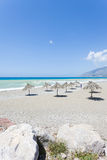 Sandy beach of Kokkinos Stock Images