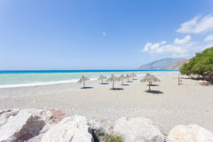 Sandy beach of Kokkinos Royalty Free Stock Photo
