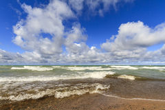 Sandy beach on Lake Superior Stock Images