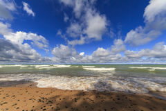 Sandy beach on Lake Superior Royalty Free Stock Image