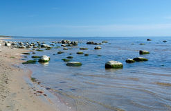 Sandy beach landscape Royalty Free Stock Images