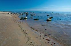 Sandy beach landscape Royalty Free Stock Photos