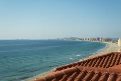 Sandy Beach Line en el La Manga del Mar Menor Fotografía de archivo libre de regalías