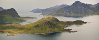 Sandy beach on Lofoten islands, Arctic Ocean Royalty Free Stock Images
