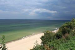 Sandy Beach, mar Báltico, Polônia Imagens de Stock Royalty Free