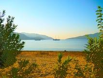 Sandy beach of Marmaris in Turkey stock photography