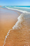 Sandy beach on the Mediterranean Sea, Israel Stock Photos
