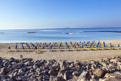 Sandy beach in the morning Royalty Free Stock Image
