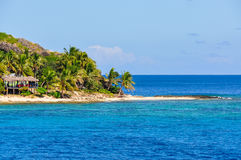 Sandy Beach na ilha de Waya Lailai em Fiji fotos de stock