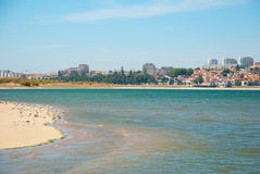Sandy beach of natural reserve in Porto, Portugal Stock Photo