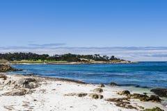 Sandy beach near Cypress Point Stock Images