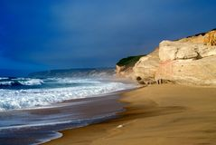 Sandy Beach near Obidos, Portugal Royalty Free Stock Photography