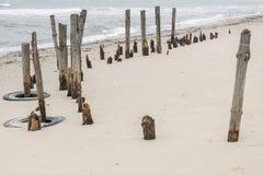 Sandy beach near Ustronie Morskie - Poland. Stock Photography