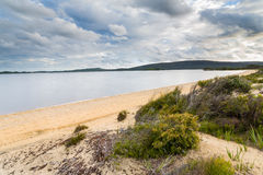 Sandy Beach Near Walpole Stock Photo
