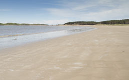Sandy beach at Newborough in Anglesey Stock Images