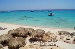 Sandy Beach no Mar Vermelho Fotos de Stock Royalty Free