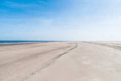 Sandy beach of Norderney royalty free stock image