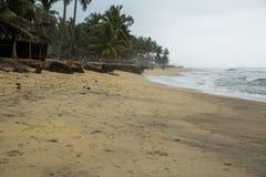 Sandy beach at the ocean shore Stock Photo