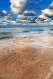 Sandy beach and ocean Royalty Free Stock Photography