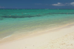 Sandy beach and ocean. Trou aux Biches, Mauritius Stock Photography