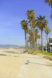Sandy Beach och palmträd nära Los Angeles i sydliga Kalifornien Arkivbilder