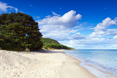 Sandy beach ofr Baltic Sea in Sweden Stock Photos