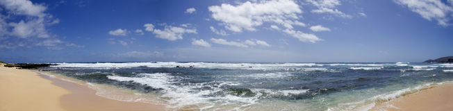 Sandy Beach Panorama Stock Photography