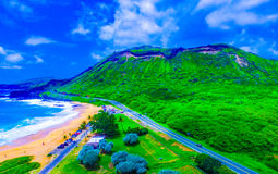 Sandy Beach Park Hawaii Stock Image