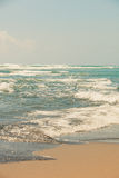 Sandy beach in pastel colors Stock Image