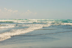 Sandy beach in pastel colors Royalty Free Stock Images