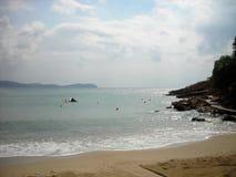 Sandy beach on the Pelion peninsula, Greece in early autumn Stock Photo