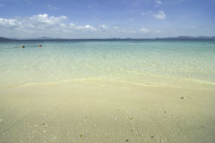 The sandy beach and People snorkeling in kradan island Thailand. Royalty Free Stock Image