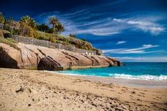 Sandy beach Playa Del Duque Royalty Free Stock Photos