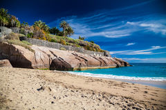 Sandy beach Playa Del Duque Royalty Free Stock Photography