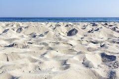 Sandy beach at the Polish Baltic coast Royalty Free Stock Images